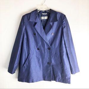 MaxMara Linen Silk Double Breasted Blazer Jacket